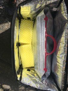 【ウーバーイーツ UberEats】保温バッグのフタをして冷めるのを防ぐ