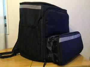 【ウーバーイーツ UberEats】配達バッグの底を広げることができる